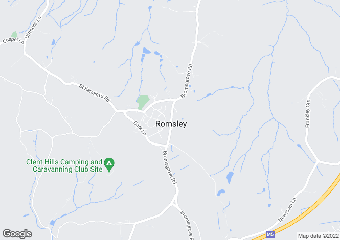 Map for Bromsgrove Road, Romsley