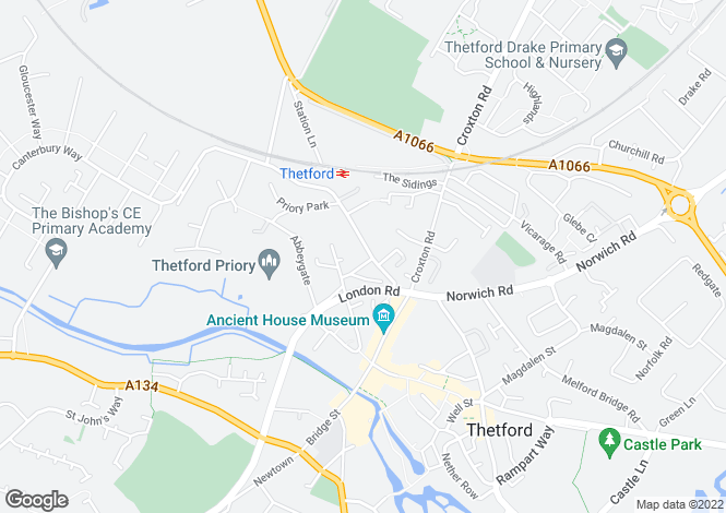 Map for Avenue Gardens, Station Road, Thetford