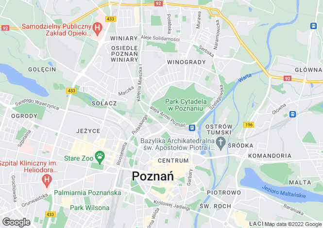 Map for Greater Poland, Poznan