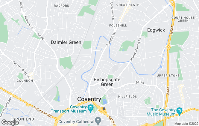 Map for Coventry Rooms, Coventry