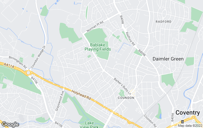 Map for Valued Homes, Coventry