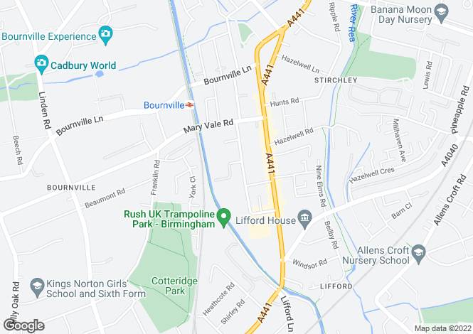 Map for Charlotte Road, Stirchley, Birmingham, B30 2BT