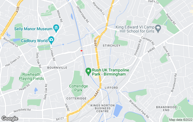Map for Oakton Estates, Birmingham