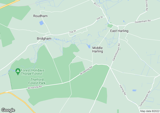 Map for West Harling, Norwich, Norfolk