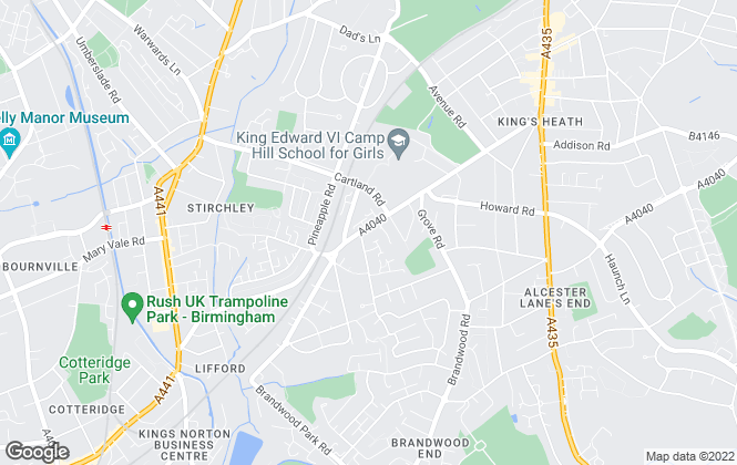 Map for Spectra Property Services, Kings Heath