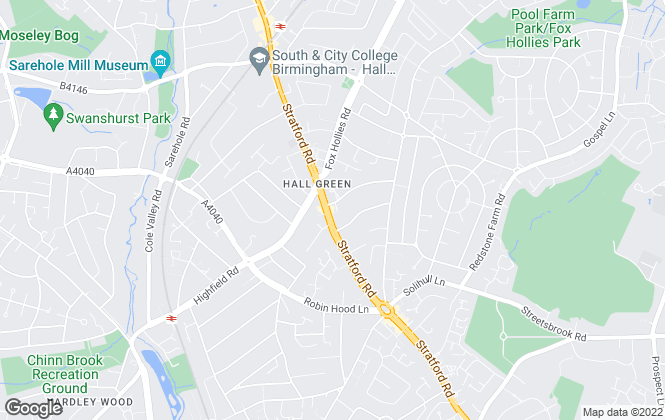 Map for Shakespeares Estate Agents, Hall Green