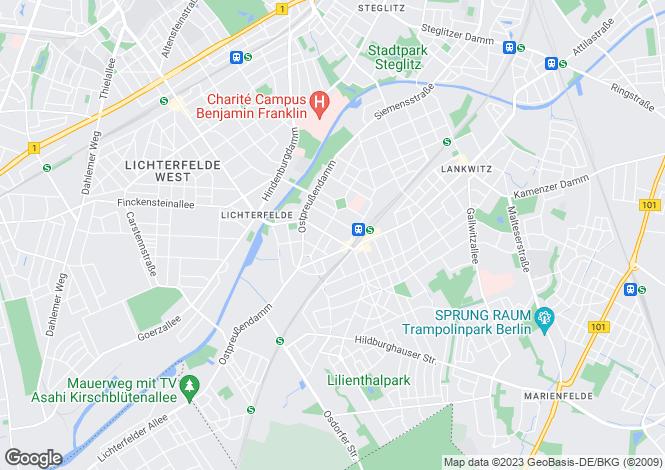 Map for Koenigsberger Str. 6a, Berlin, Steglitz (Berlin), Germany