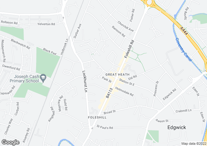 Map for Station Street West, Foleshill, CV6