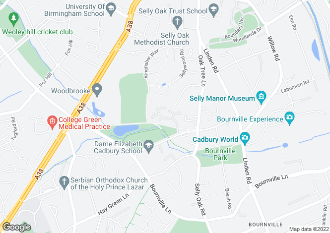 Map for Meadow Rise, Bournville