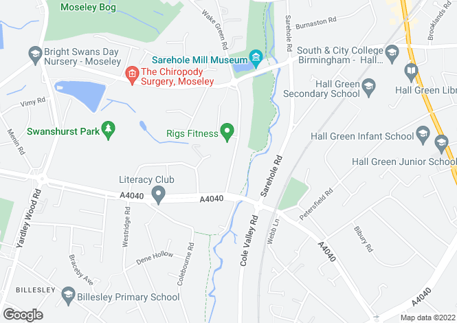 Map for Brandon Court, 356 Wake Green Road, Moseley