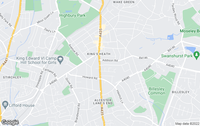 Map for Dixons, Kings Heath