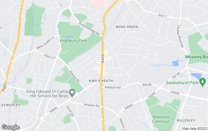 Map for Connells, B'ham South - Kings Heath