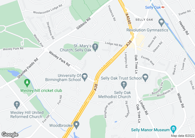 Map for Bridgewater Court, 945 Bristol Road, Birmingham, West Midlands