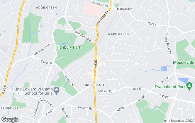 Map for Heritage Estate Agency, Kings Heath
