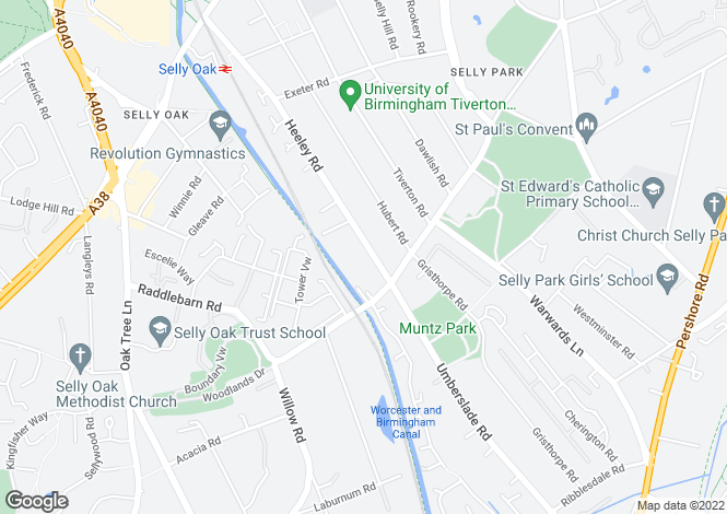 Map for Heeley Road,
