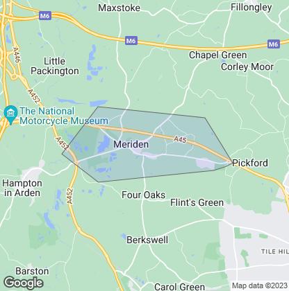 Map of property in Meriden