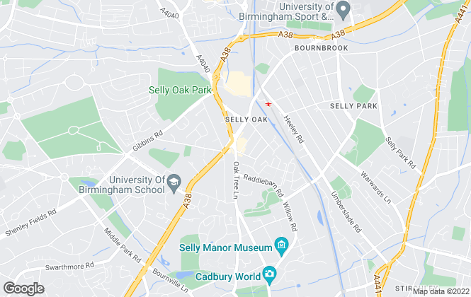 Map for Oakmans Estate Agents, Birmingham