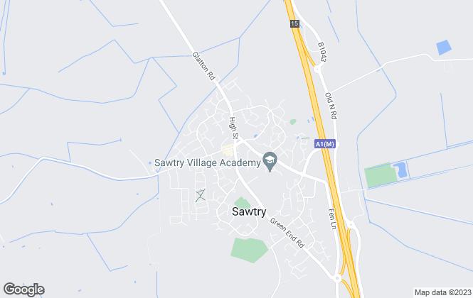 Map for Stonebridge Estates, Sawtry
