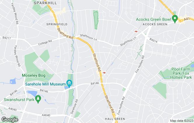 Map for EZ management, Birmingham