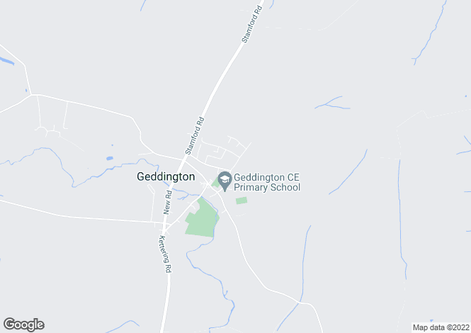 Map for Wood Street, Geddington, Northants
