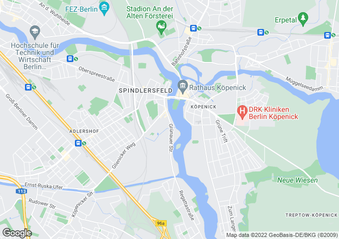 Map for Berlin, Treptow
