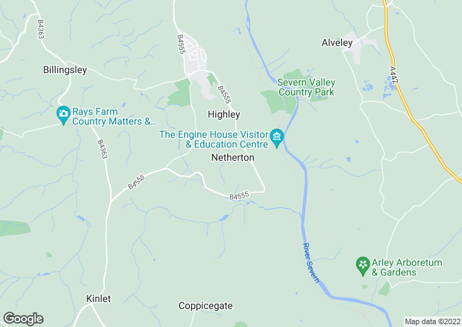 Map for Netherton, Highley, Bridgnorth