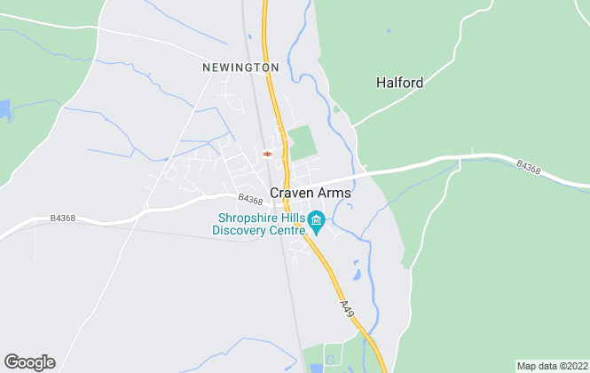 Map for Samuel Wood & Company, Craven Arms