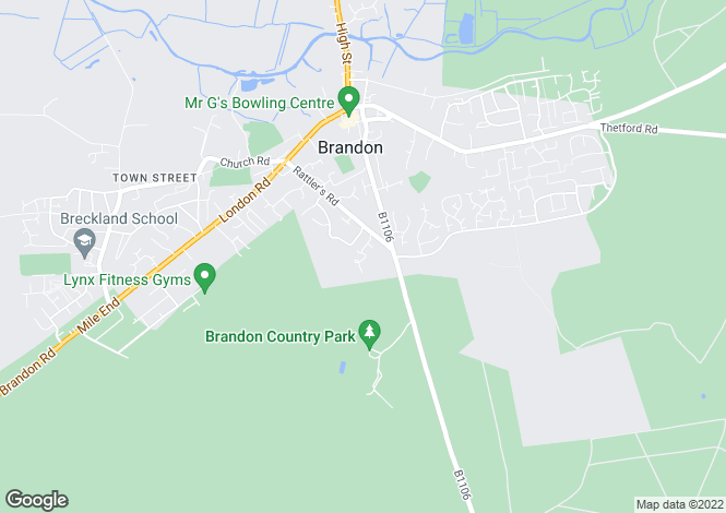 Map for Walton Way, BRANDON, Suffolk