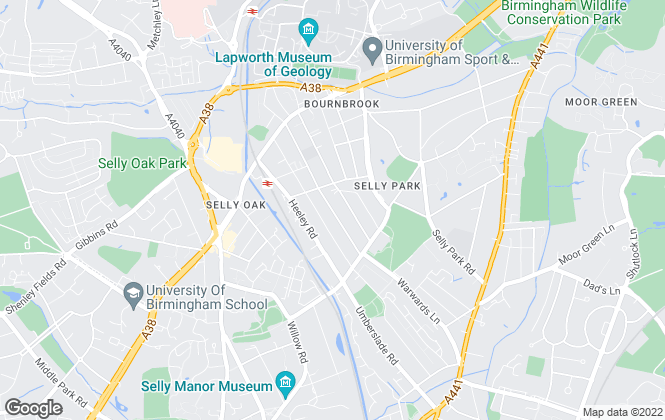 Map for MasonKnight Properties, Selly Oak