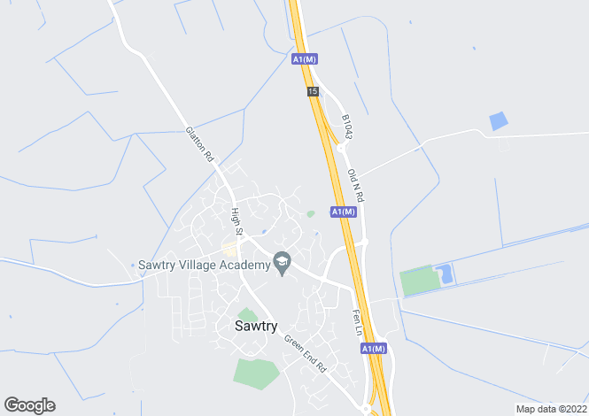 Map for Church Causeway, Sawtry