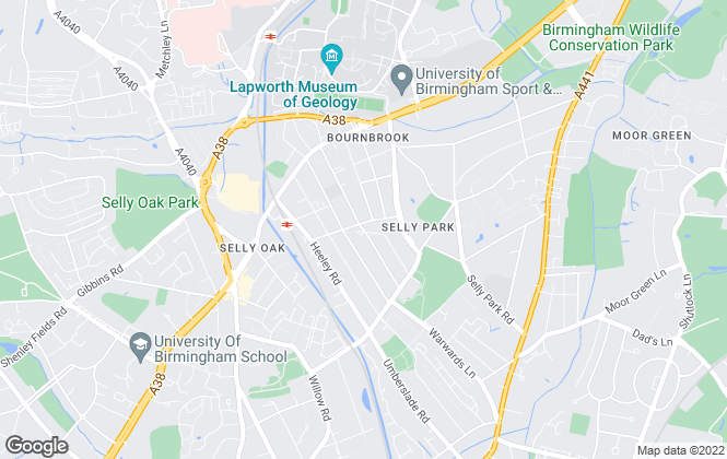 Map for Purple Frog Property Limited, Selly Oak