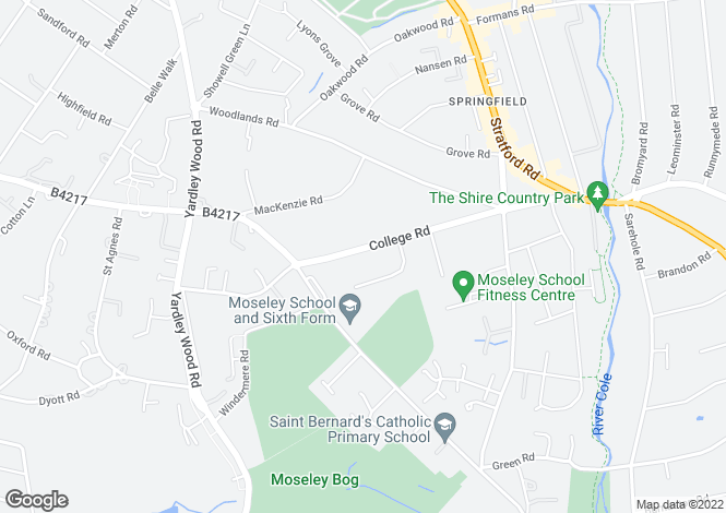 Map for Lot 29 - College Road,