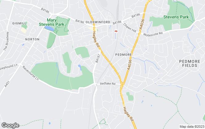 Map for Nicson, Stourbridge