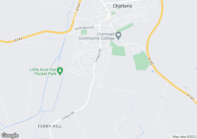 Map for Marian Way, Chatteris
