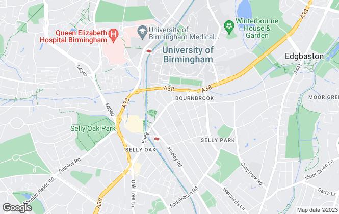Map for K B Roman, Birmingham