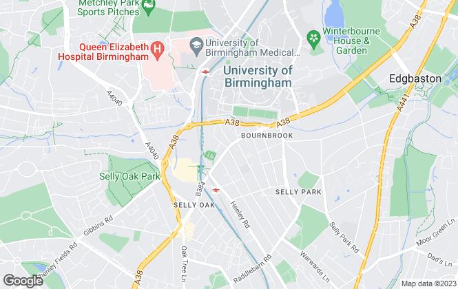 Map for Unihousing, Birmingham