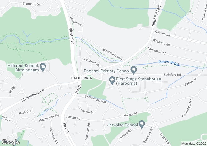 Map for Blakemore Close, HARBORNE, B32