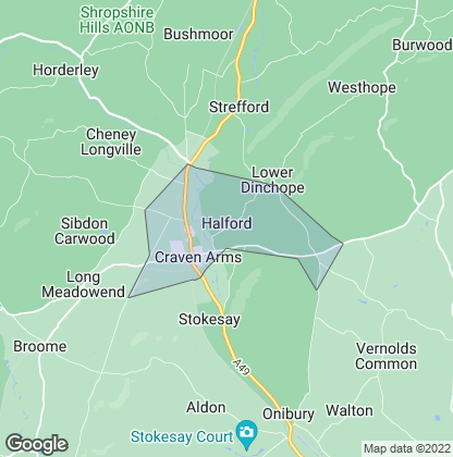 Map of property in Craven Arms