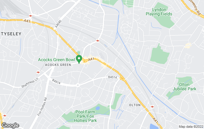 Map for Dixons, Acocks Green