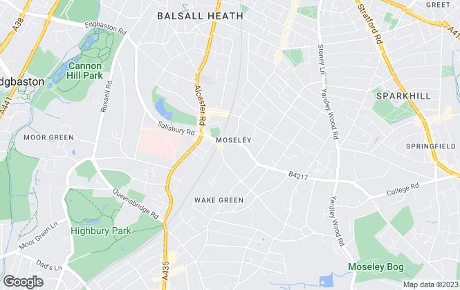 Map for Nicholas George Ltd, Moseley - Sales