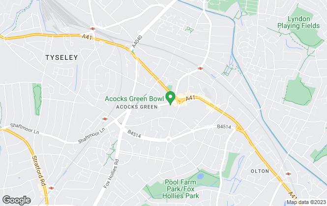 Map for Alan Watts & Co, Acocks Green