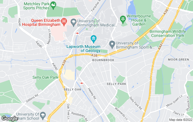 Map for House Hunt, Birmingham