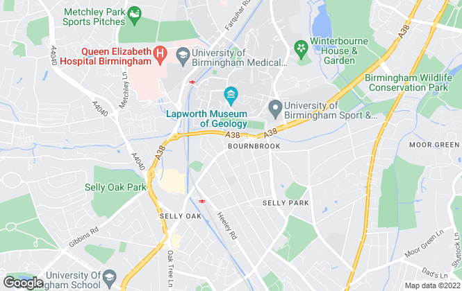 Map for Britannia Property Services, Selly Oak