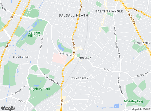 Map for Chamberlains Estate Agents Ltd, Moseley