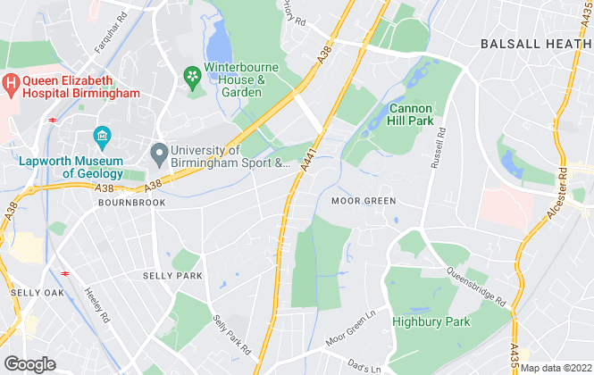 Map for JR Estates, Selly Park