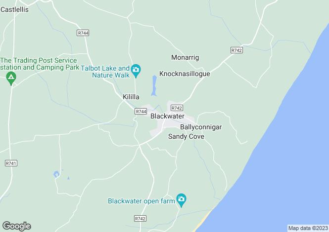 Map for Hotel & Supermarket, Blackwater Village, Blackwater, Enniscorthy, Co Wexford