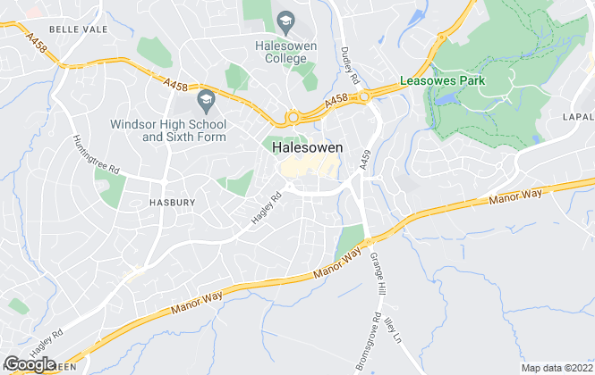 Map for Taylors Estate Agents, Halesowen, West Midlands