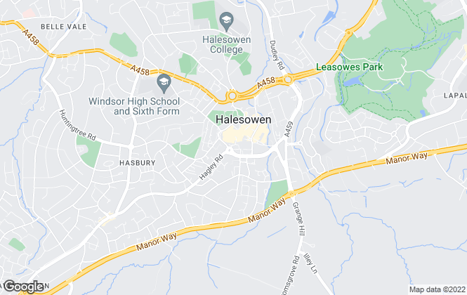 Map for Lex Allan Grove, Halesowen