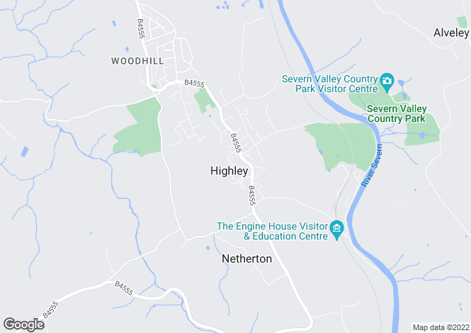 Map for Highley, Bridgnorth