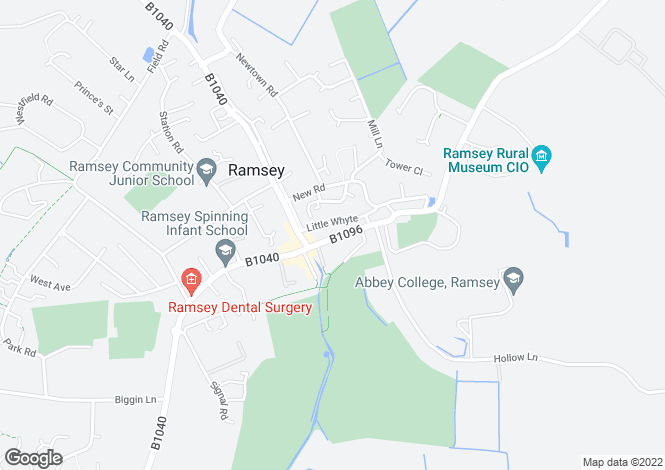 Map for High Street, Ramsey